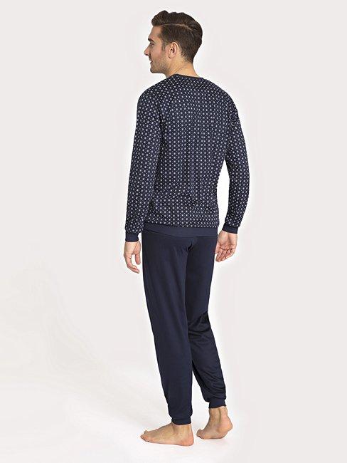 CALIDA Matt Pyjama avec bords élastiqués