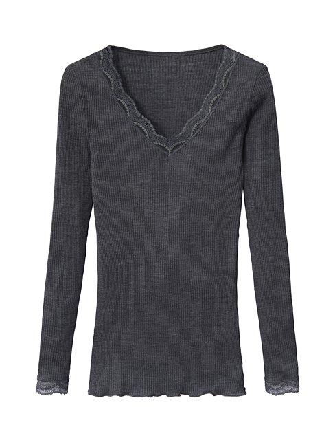 CALIDA Romina Langarm-Shirt aus Wolle-Seide