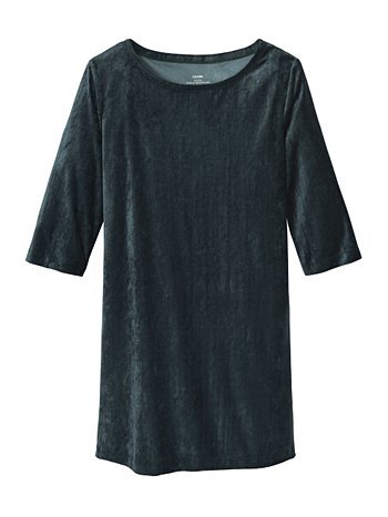 CALIDA Favourites Xmas Trend 1 Loungedress aus Velours, Länge 90cm