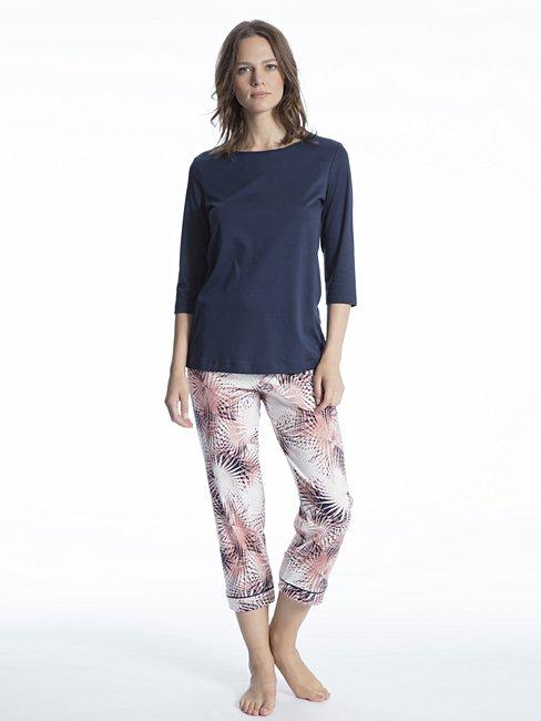 CALIDA Cosy Flowers 7/8-Pyjama mit 3/4-Arm