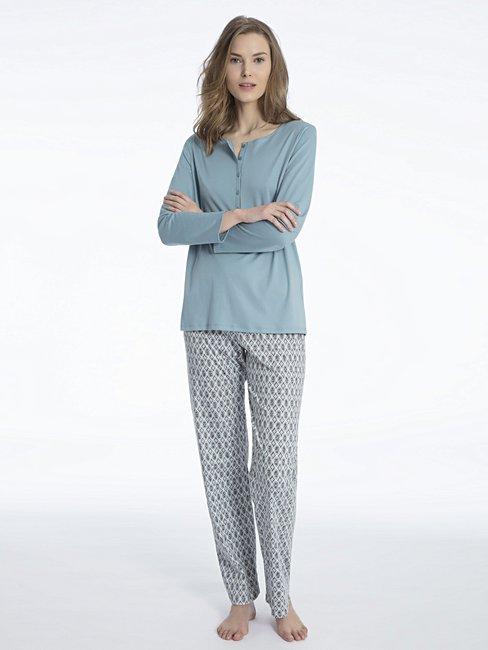 CALIDA Eleonor Pyjama mit Knopfleiste