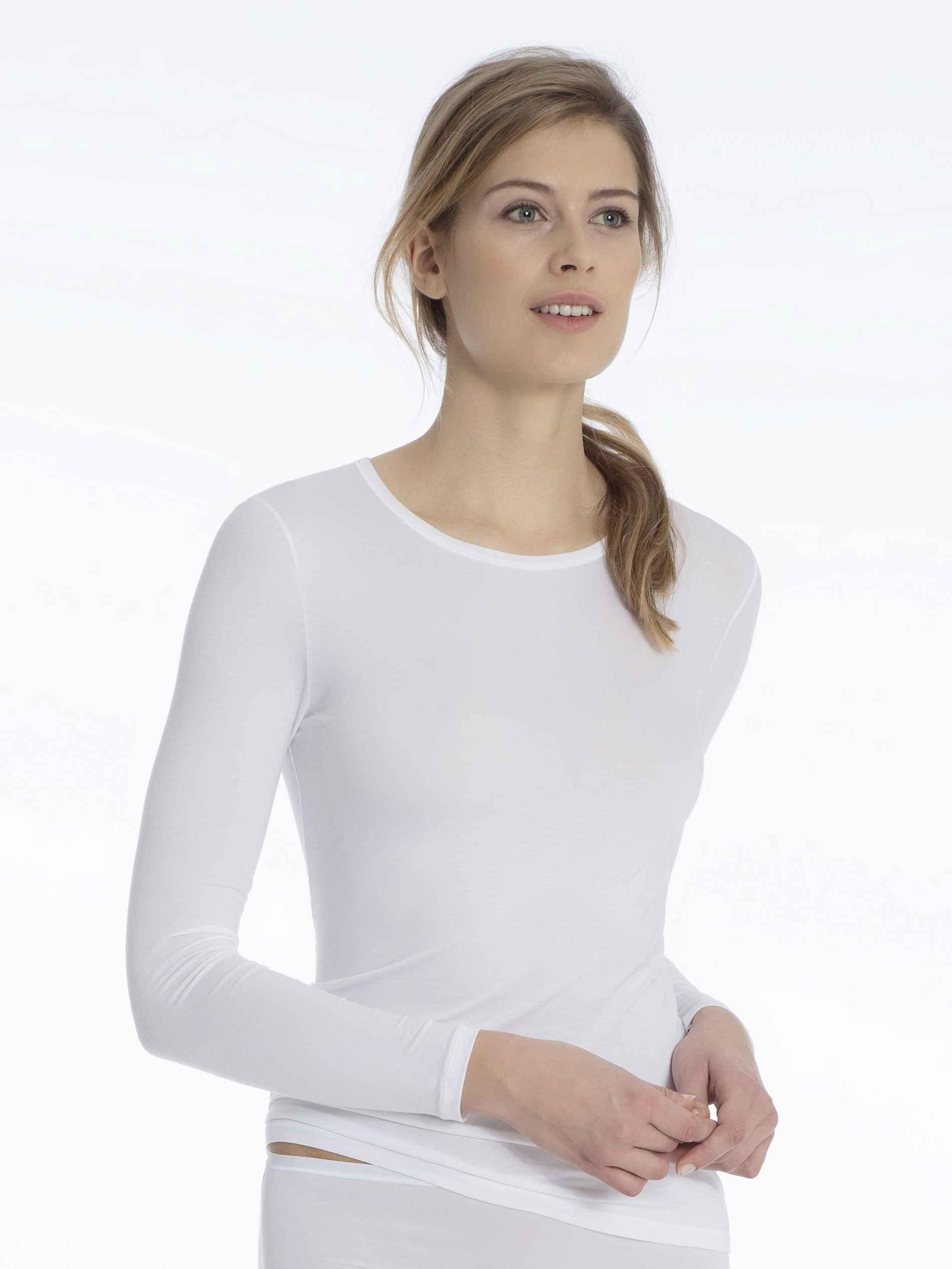 Damen CALIDA Balance Funktions-Langarm Shirt weiß | 7613306400110, 7613306400127, 7613306400134, 7613306400141, 7613306400158, 7613306400165, 7613306400172, 7613306400189