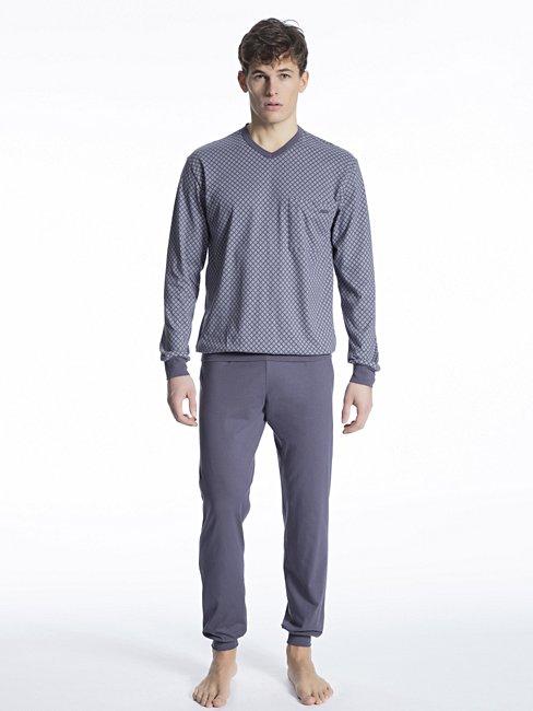 CALIDA Relax Imprint 2 Bündchen-Pyjama