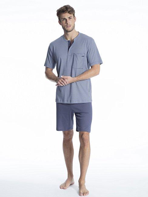 CALIDA Relax Streamline 1 Kurz-Pyjama mit Knopfleiste