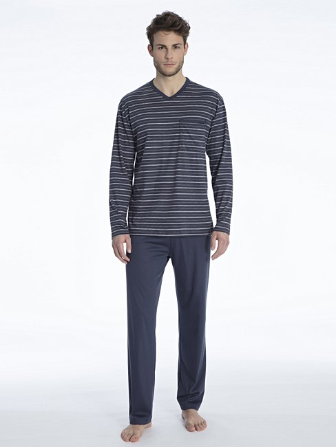 CALIDA Ferris Schlafanzug, V-Neck