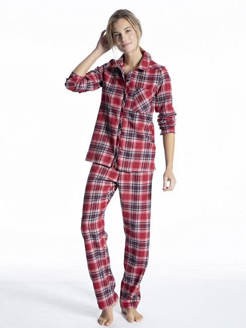 CALIDA Family & Friends Pyjama, flannel