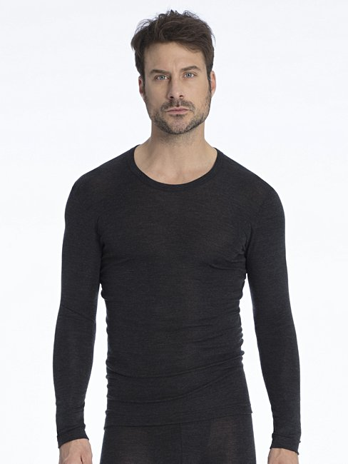 CALIDA Wool & Silk T-shirt à manches longues, coupe liquette