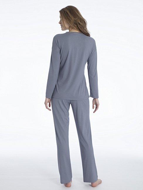 CALIDA Jacinda Pyjama mit Satinblende