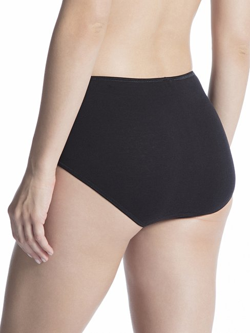 CALIDA Cotton Finerib Midi Slip, high waist
