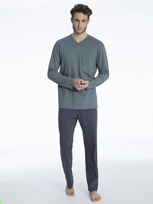 606f199484 CALIDA Glen Pyjama lang grau | CALIDA Online-Shop