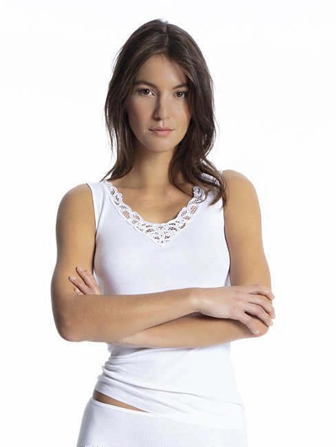 CALIDA Cotton Finerib Tank top