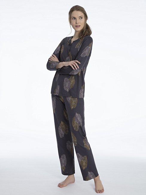 CALIDA Salome Pyjama mit Knopfleiste