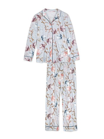 CALIDA Cosy Flowers Pyjama buttoned