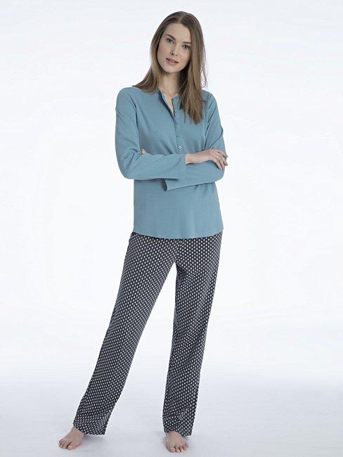CALIDA Rahel Pyjama mit Knopfleiste