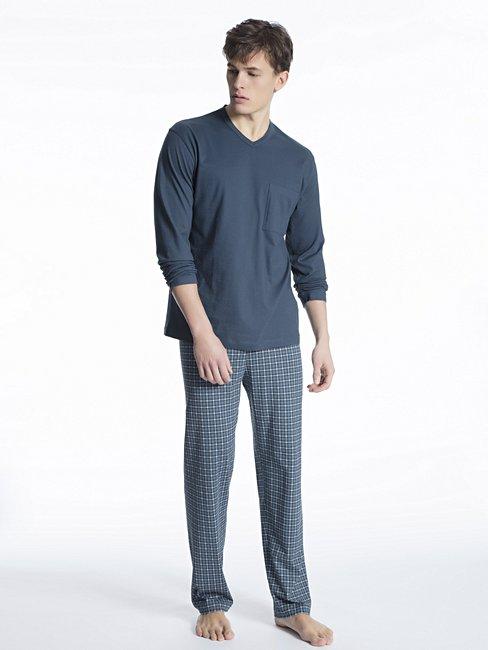 CALIDA Relax Imprint 1 Pyjama lang, V-Neck