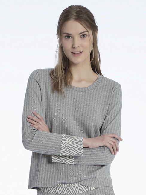 CALIDA Favourites Trend 3 Sweatshirt, Jaquard