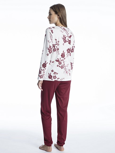 CALIDA Paulina Pyjama mit schmalen Bündchen
