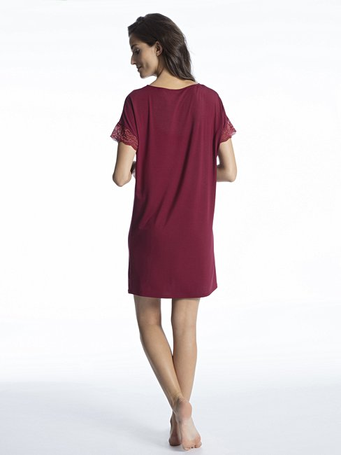 CALIDA Cosy Glam Sleepshirt kurzarm, Länge 90cm
