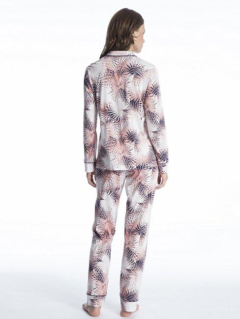 CALIDA Cosy Flowers Pyjama durchgeknöpft