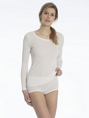 CALIDA True Confidence Langarm-Shirt aus Wolle-Seide