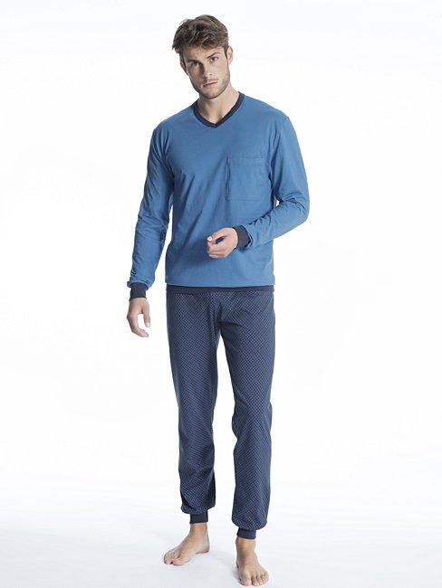 CALIDA Relax Imprint 1 Pyjama avec bords élastiques
