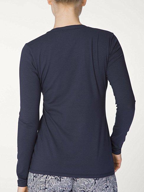 CALIDA Favourites Trend 5 Langarm-Shirt mit Knopfleiste