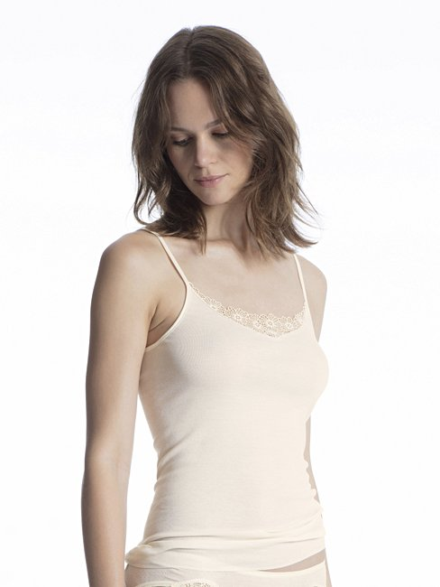 CALIDA Cotton Finerib Spaghetti-Top