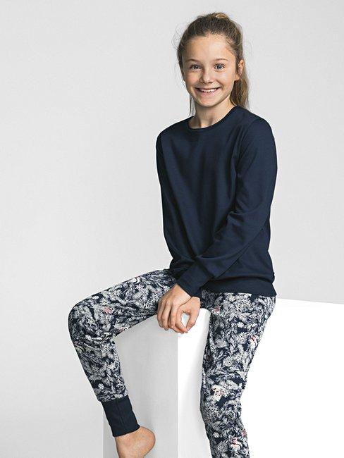 e57ea7bfda Calida Family Time Madchen Pyjama Mit Bundchen Blau Calida Online Shop