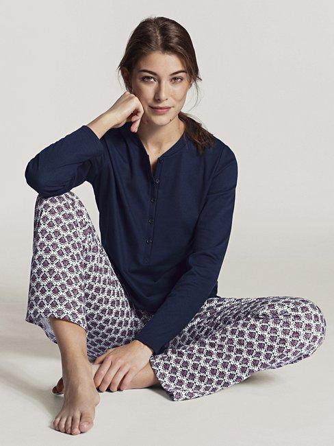 CALIDA Midnight Flowers Langarm-Pyjama