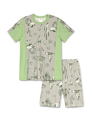 f12d87113d CALIDA Boys Western Jungen Kurz-Pyjama grün | CALIDA Online-Shop