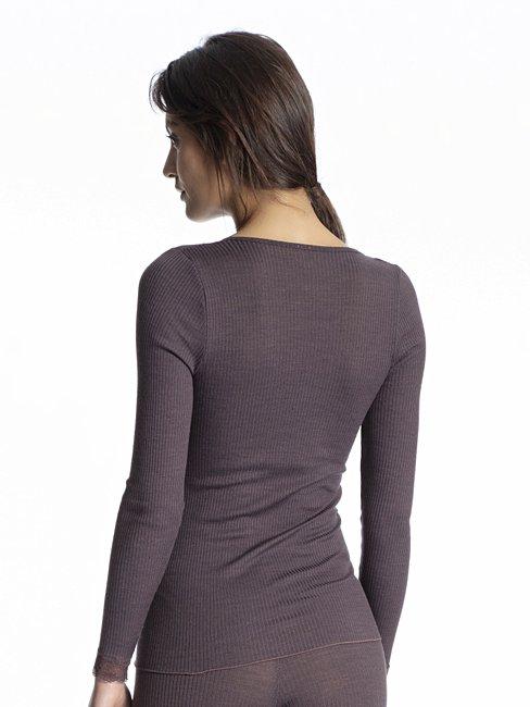 CALIDA Silky Wool Joy Shirt Langarm aus Wolle und Seide