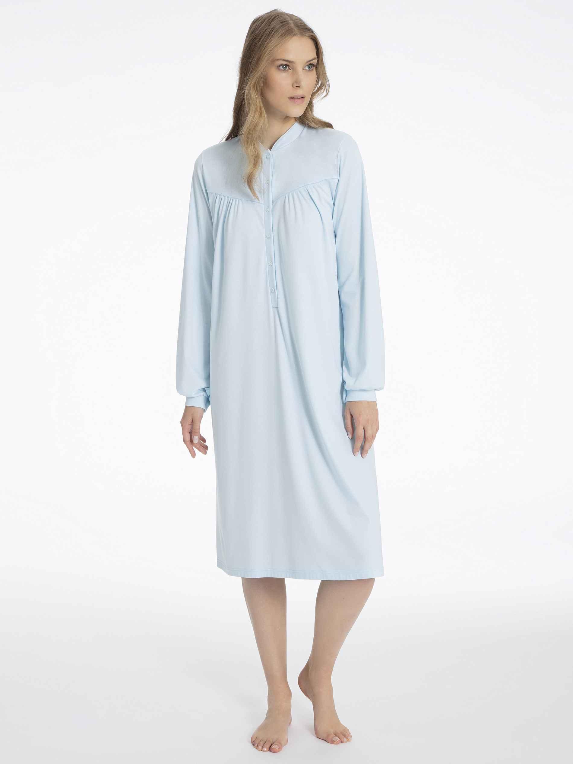 Damen CALIDA Soft Cotton Nightshirt blau | 07610441933893