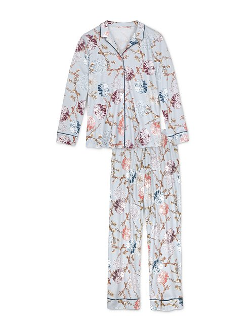 CALIDA Cosy Flowers Pyjama boutonné sur toute la longueuer