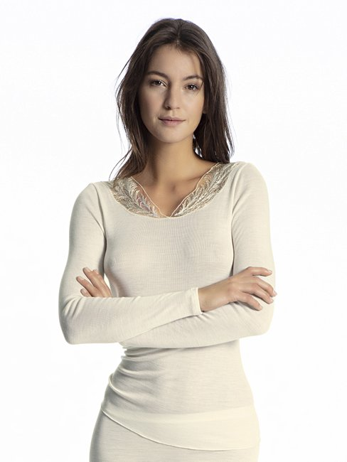 CALIDA Wool Mix Air Shirt Langarm mit Wolle