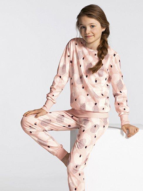 CALIDA Girls Abstract Mädchen Schlafanzug mit Bündchen