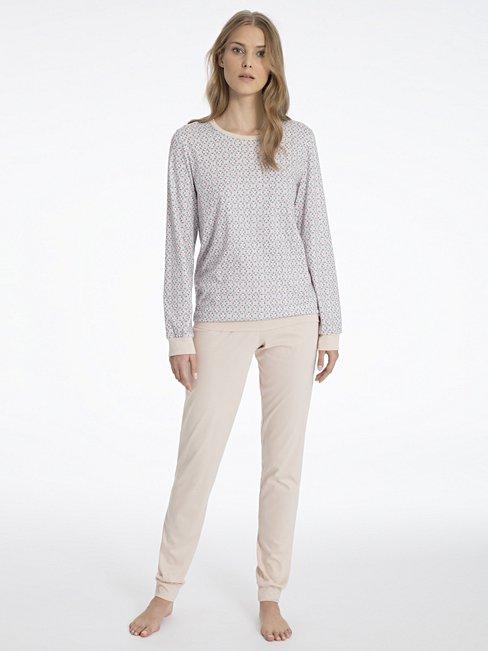 c6744c99d4f CALIDA Suzan Pyjama with cuff pink   CALIDA Online-Shop