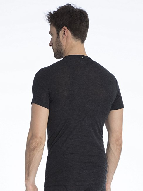 CALIDA Wool & Silk T-shirt, drop tail