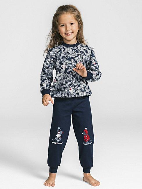 0fa8957d7e0483 CALIDA Family Time Kinder-Pyjama mit Bündchen blau | CALIDA Online-Shop
