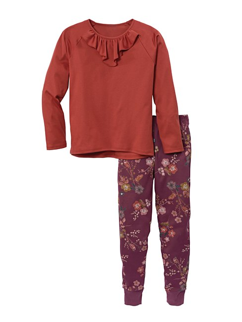 CALIDA Singing Florets Pyjama with cuff for girls
