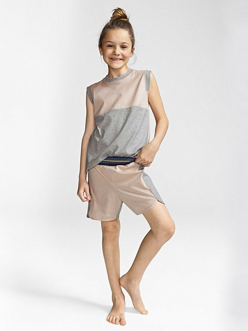 CALIDA Athleisure Girl Mädchen-Kurz-Pyjama