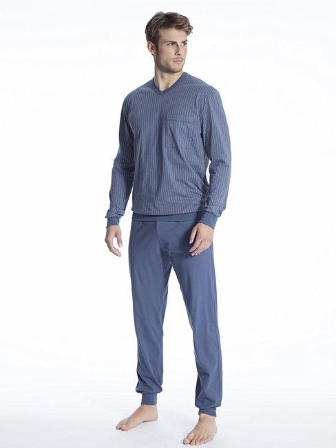 CALIDA Relax Imprint 1 Bündchen-Pyjama