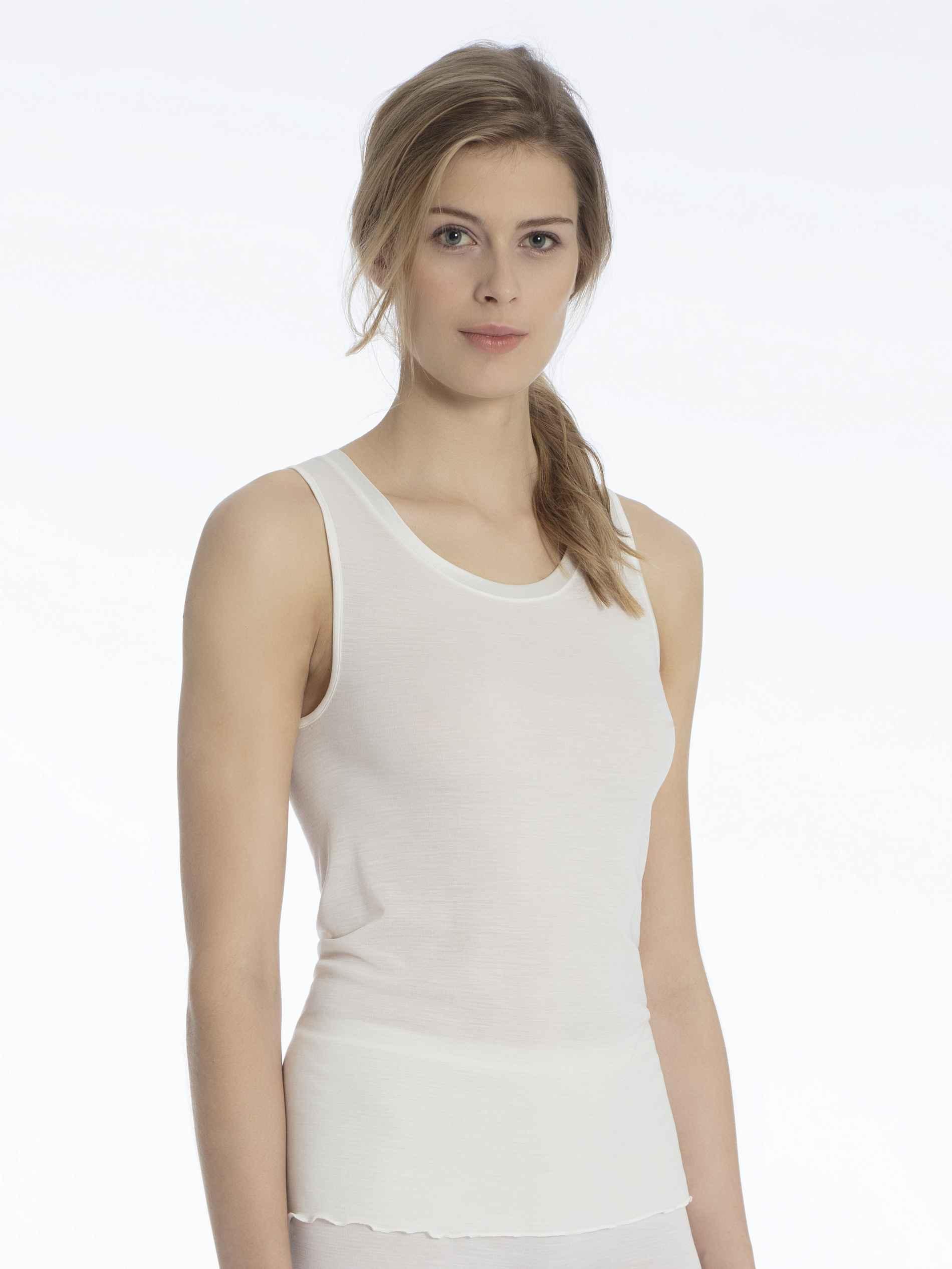 Damen CALIDA True Confidence Tank-Top aus Wolle-Seide champagner | 07613306584681