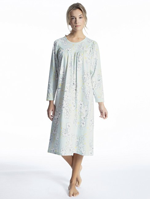 CALIDA Soft Cotton Langarm-Nightshirt, Länge 110cm