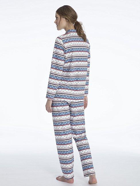CALIDA Family Time Pyjama, buttoned