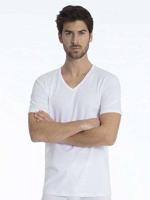 CALIDA Natural Benefit V-Shirt, 2-Pack
