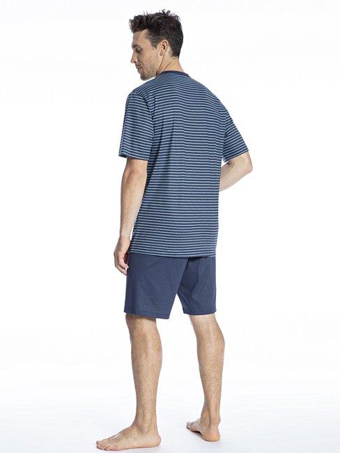 CALIDA Relax Imprint 4 Kurz-Pyjama, V-Neck