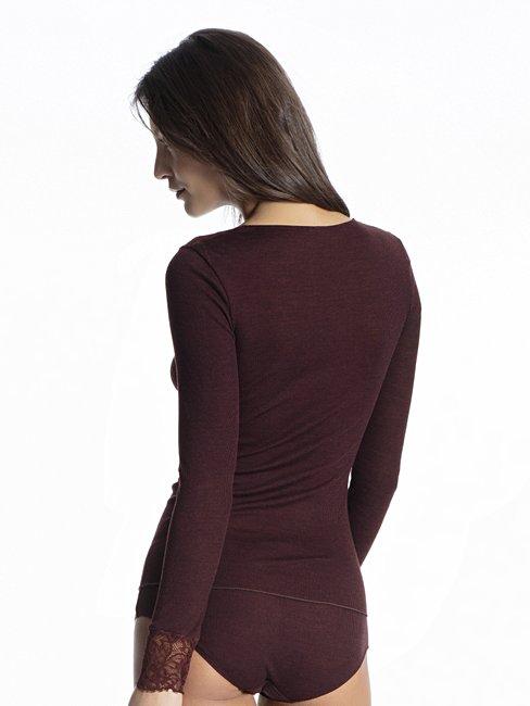 CALIDA Silky Wool Glam Langarm-Shirt aus Wolle-Seide