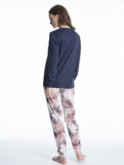 CALIDA Cosy Flowers Bündchen-Pyjama