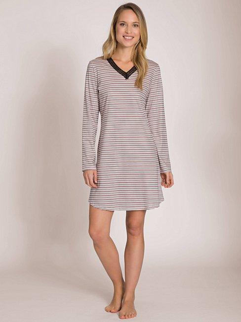 CALIDA Ayla Sleepshirt mit Ringelmuster, Länge 90cm