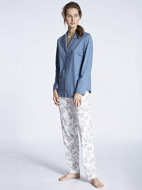 CALIDA Cosy Jersey Fun Pyjama boutonné sur toute la longueur